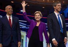 cory booker elizabeth warren beta orourke democratic debate 2019