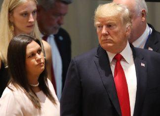 donald trump affects sarah sanders political future 2019 images