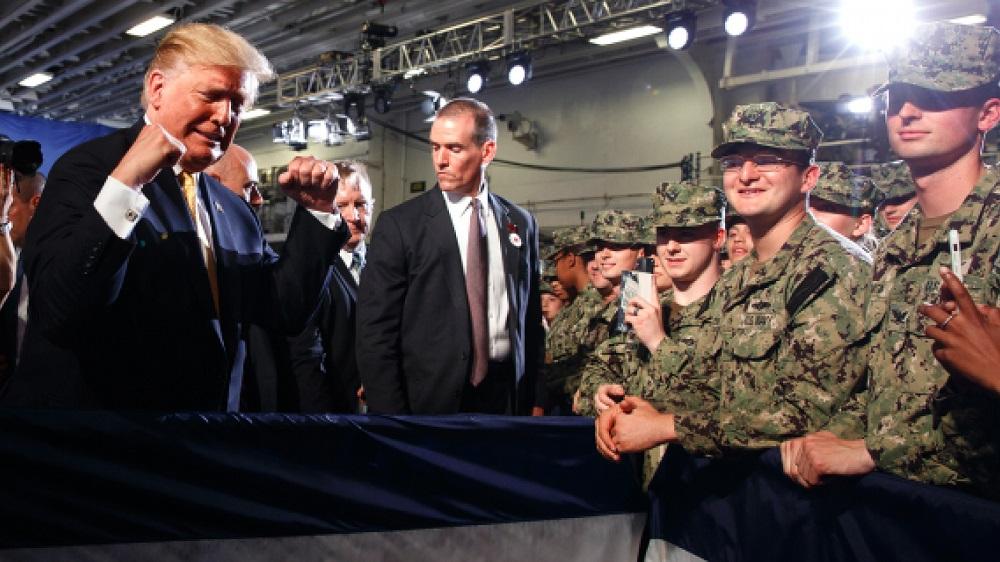 donald trump getting slapback from pentagon about hiding john mccain warship 2019