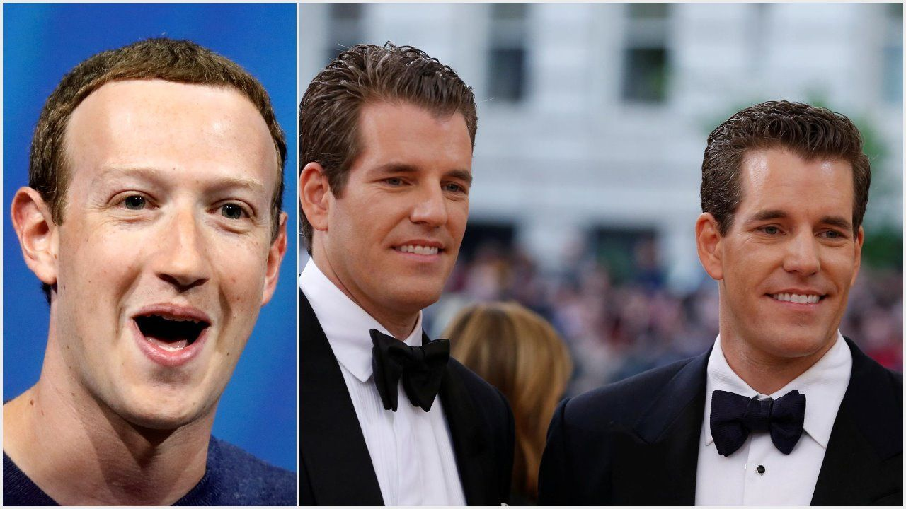 mark zuckerberg upstages winklevoss twins with libra 2019 images