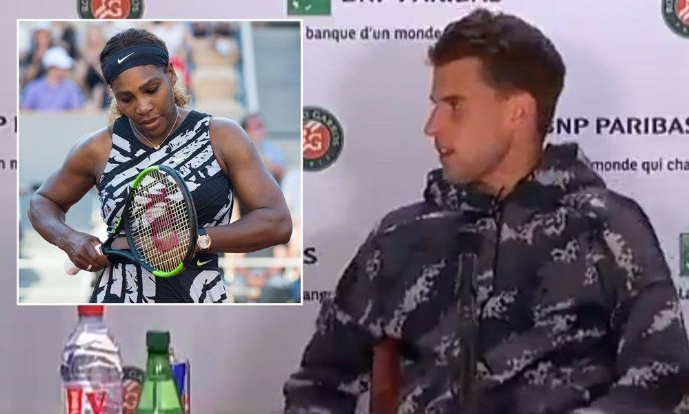 serena williams cuts dominic thiem french open press conference short 2019