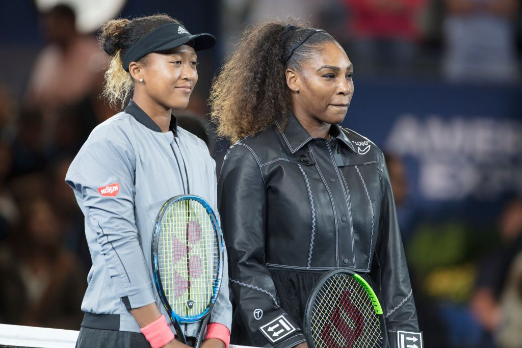 serena williams with naomi osaka at french open 2019