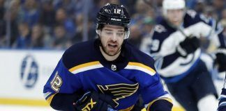 zach sanford back in play for blues stanley cup game 3 2019 images