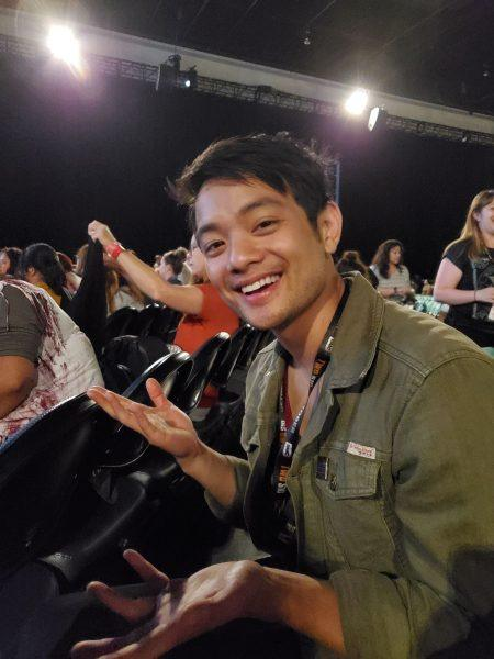 Osric Chau at Supernatural final Comic Con panel 2019