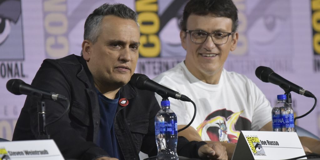 Russo brothers at comic con on avengers endgame marvel panel 2019