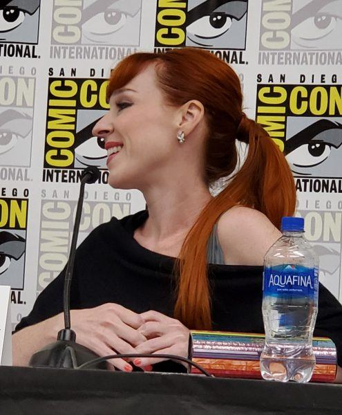 Ruth Connell smiling Beyond Scream Queens Comic Con 2019
