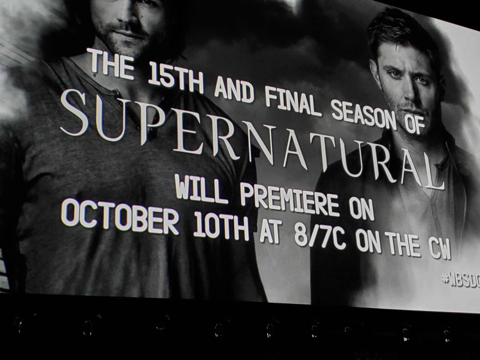 Supernatural 15 final season posting at Comic Con 2019