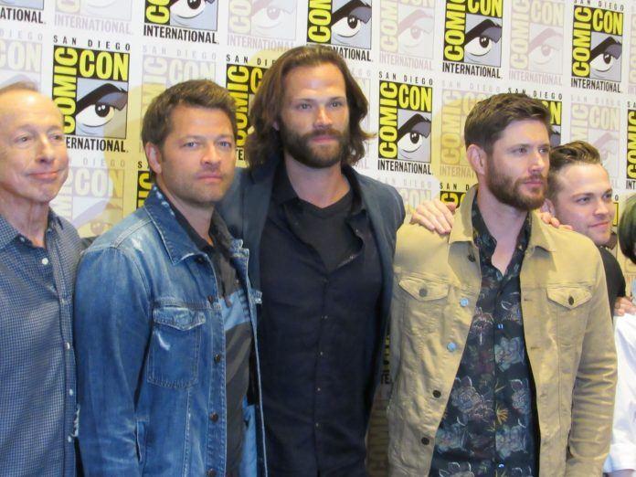 Supernatural comic con press jensen ackles jared padalecki