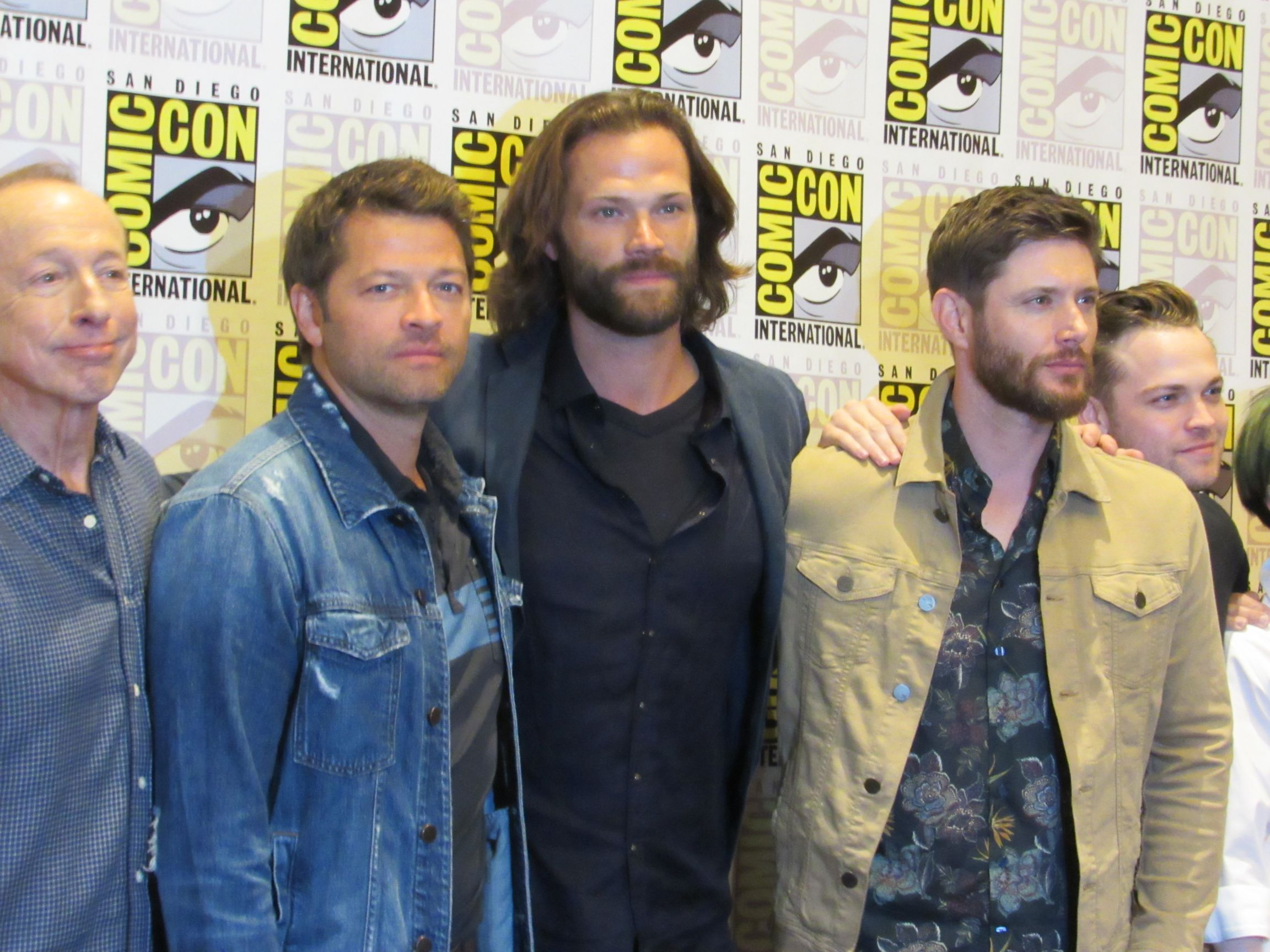 Supernatural comic con press jensen ackles jared padalecki