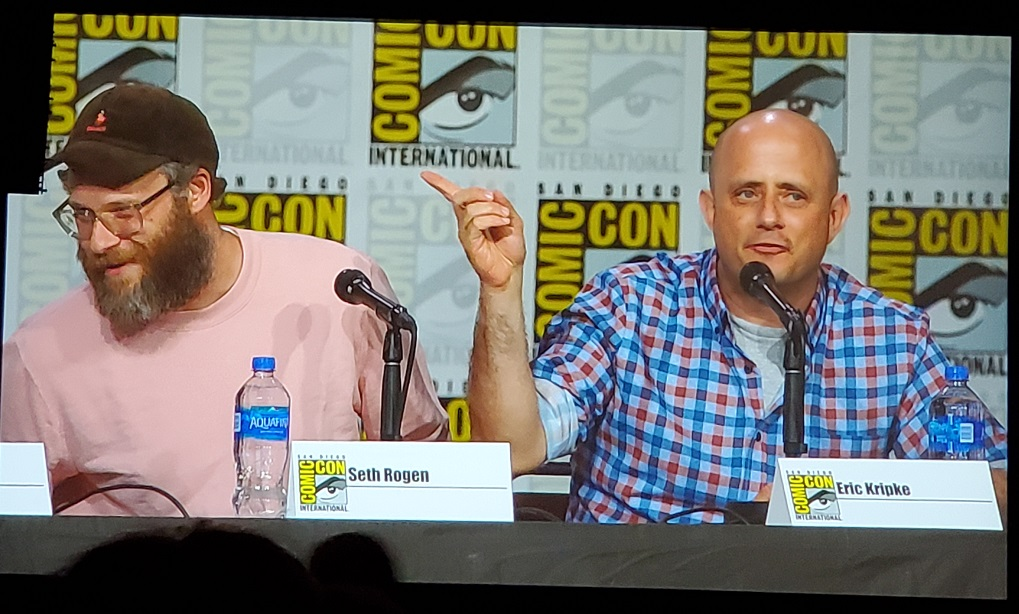 Eric Kripke Seth Rogen talking The Boys at Comic Con 2019