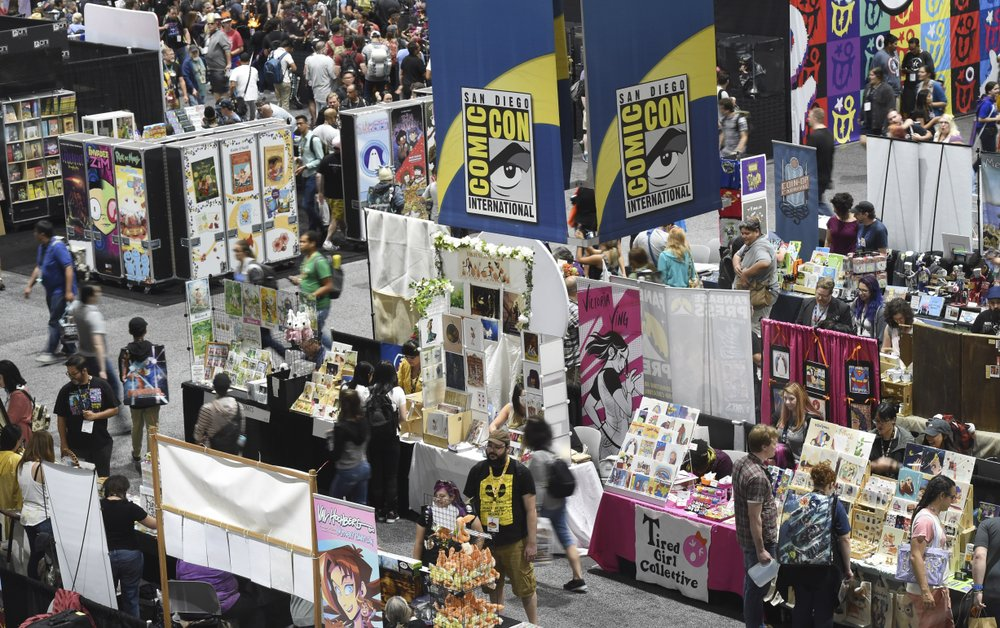 comic con 2019 stalls on preview night
