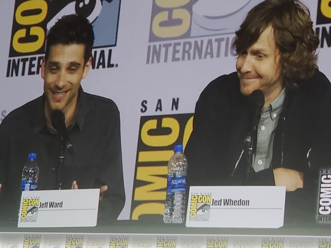 jeff ward with jed whedon agents of shield comic con panel 2019