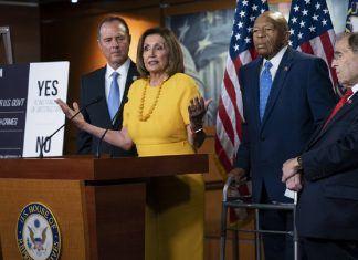 nancy pelosi democrats discuss bob mueller testimony with donald trump