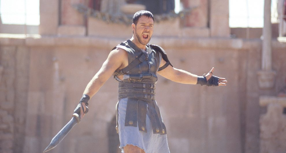 russell crowe screaming in gladiator movie images