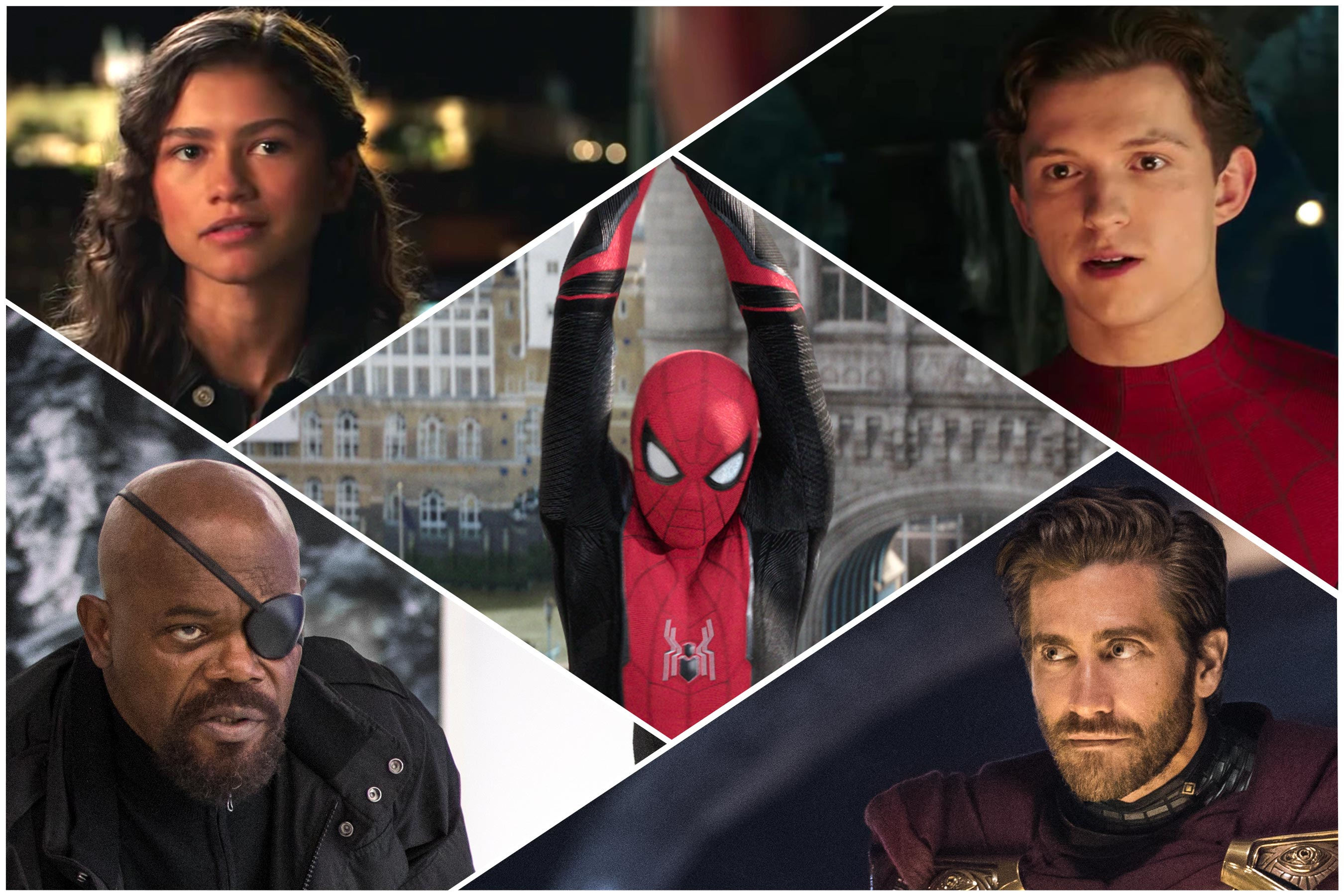 spider man far from home tom holland jake gyllenhaal zendaya