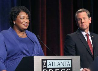 stacey abrams brian kemp georgia election hack mystery 2019 images