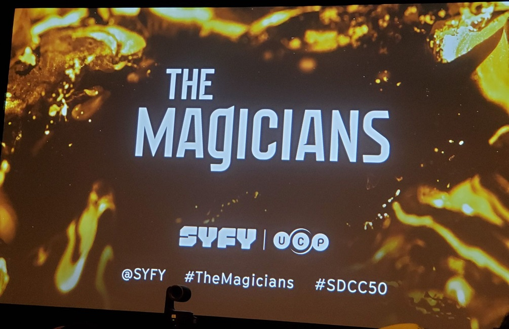 the magicians comic con panel banner 2019