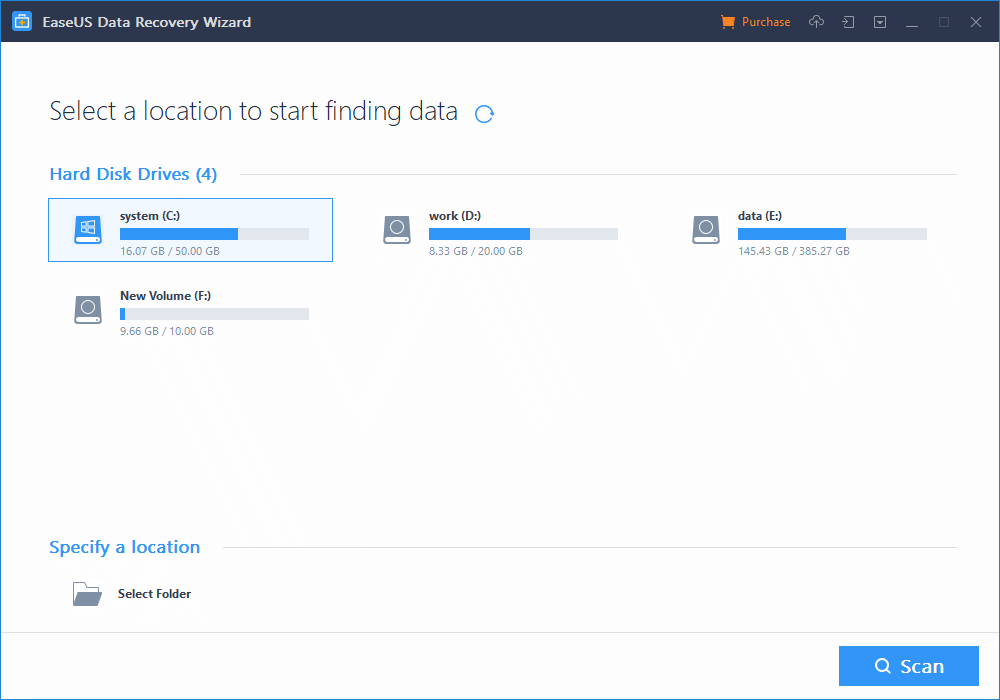 Ease Software step 1 find location to find data 2019