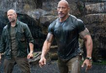 jason statham dwayne johnson wet shirts for hobbs shaw box office 2019