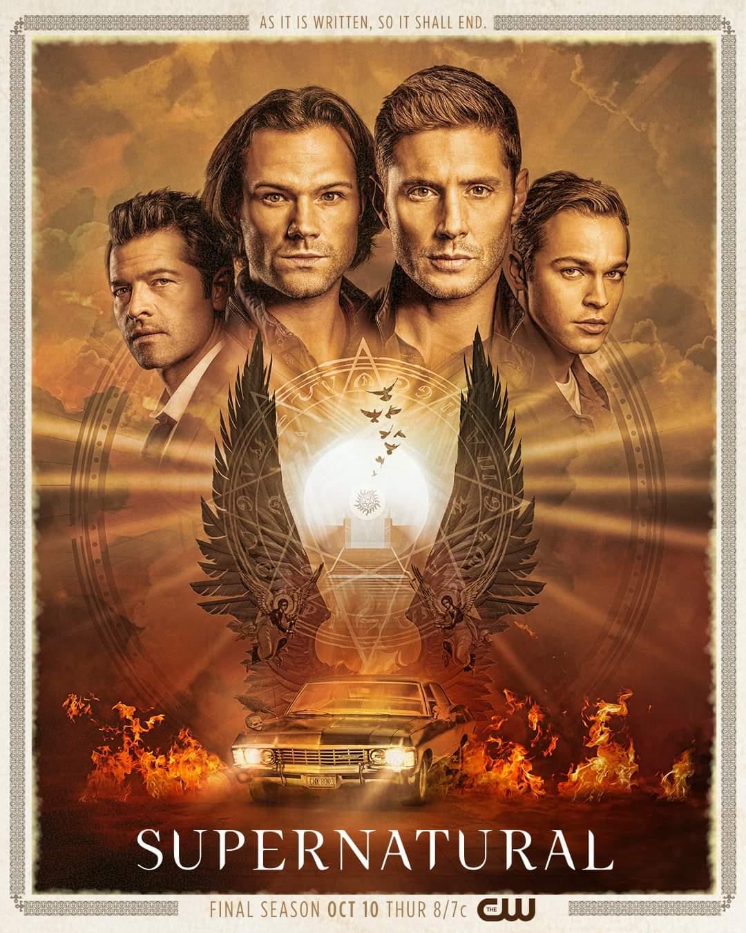 Supernatural Season 15 poster dean sam castiel