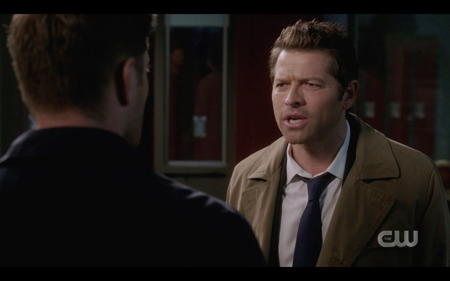 Cas reacts to Dean Winchester scoff SPN Raising Hell