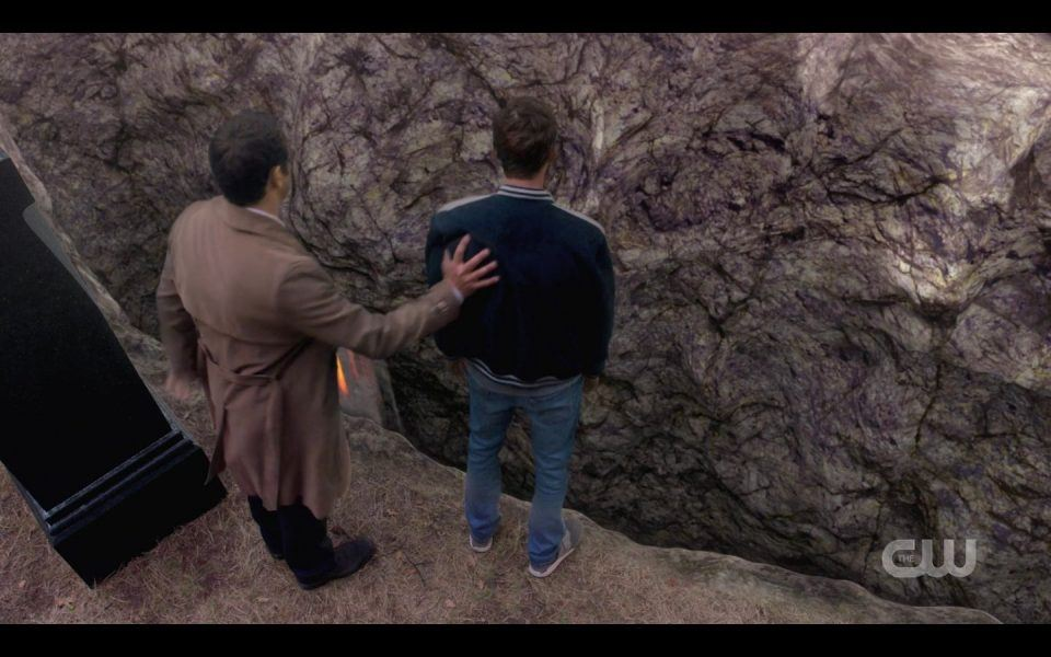 Castiel pushing Jack Belphagor into SPN Rupture