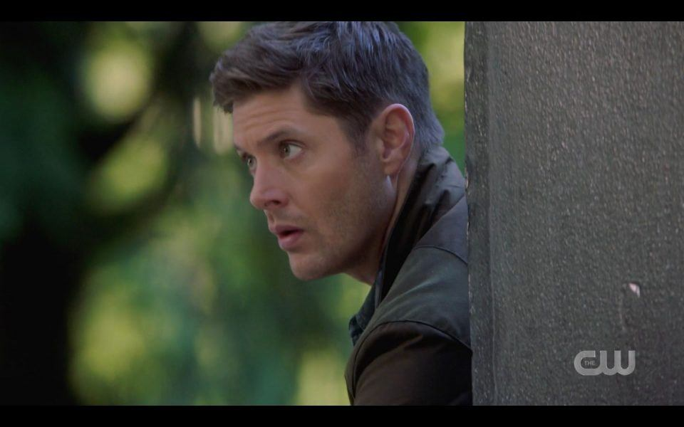 Dean Winchester hiding holding glowing bomb 1503