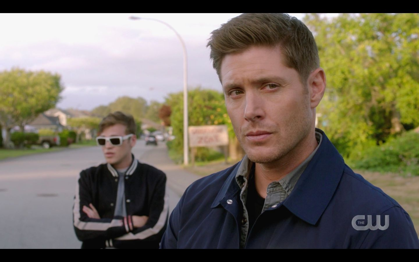 Dean Winchester with Jack worried about Sam wound 1502