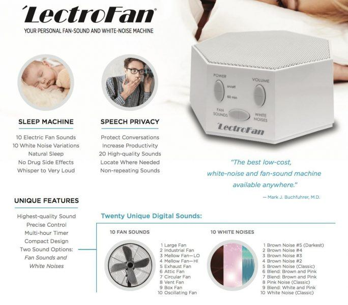 LectroFan High Fidelity White Noise Sound Machine 2019 hottest holiday home gifts
