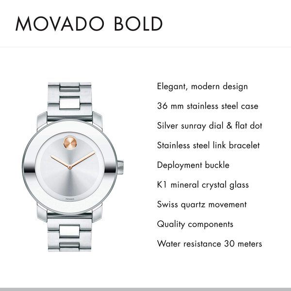 Movado Women's BOLD Iconic Metal watch 2019 hot holiday fashion watch gifts