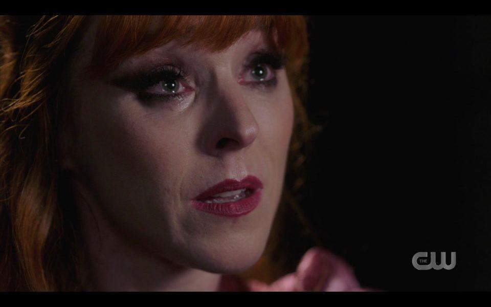 Rowena crying knows she will die soon for Sam