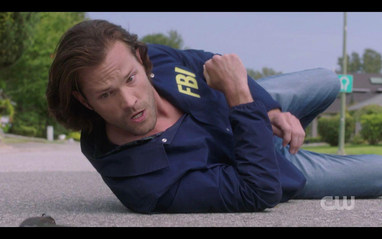 Sam Winchester falls after shooting Castiel 1501 SPN