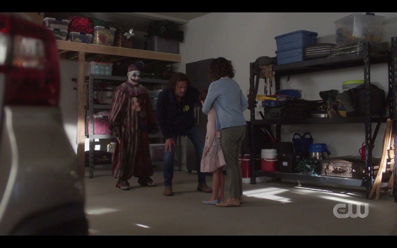 Sam Winchester helping little girl from killer clown SPN