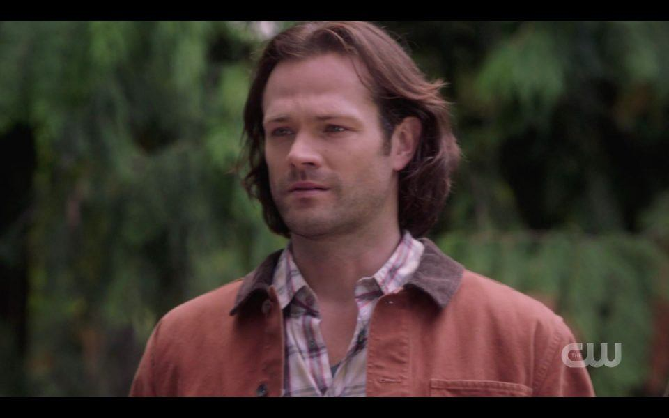 Sam Winchester reacts to Rowena dying