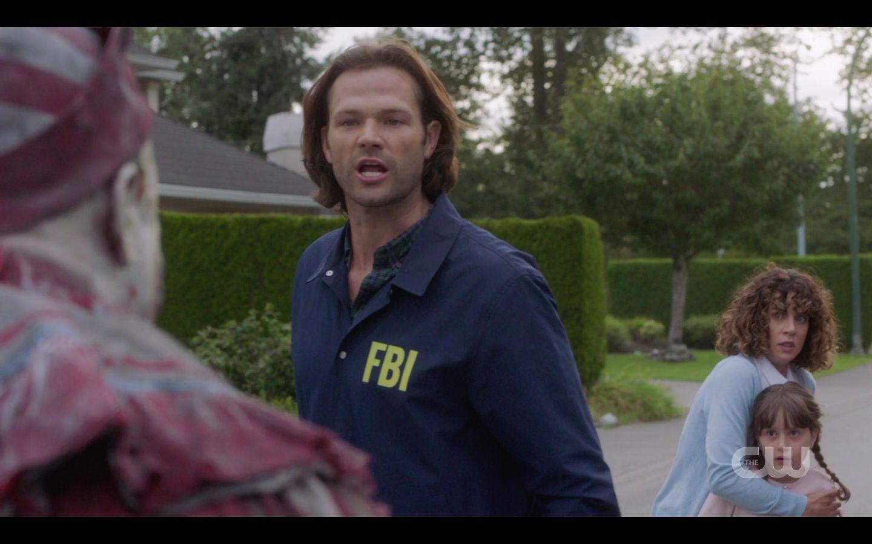 Sam Winchester screams Shut Up at Belphigor evil clown SPN