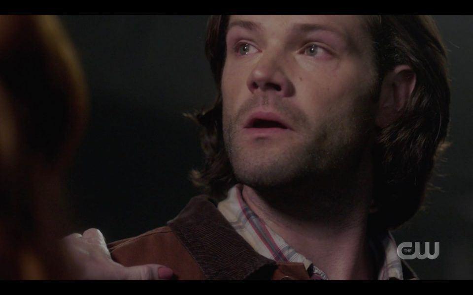 Sam realizing he has to let Rowena die Supernatural