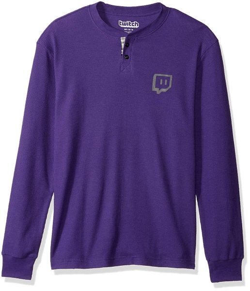 Twitch Men's Glitch Logo Thermal Henley 2019 hottest gaming holiday gifts
