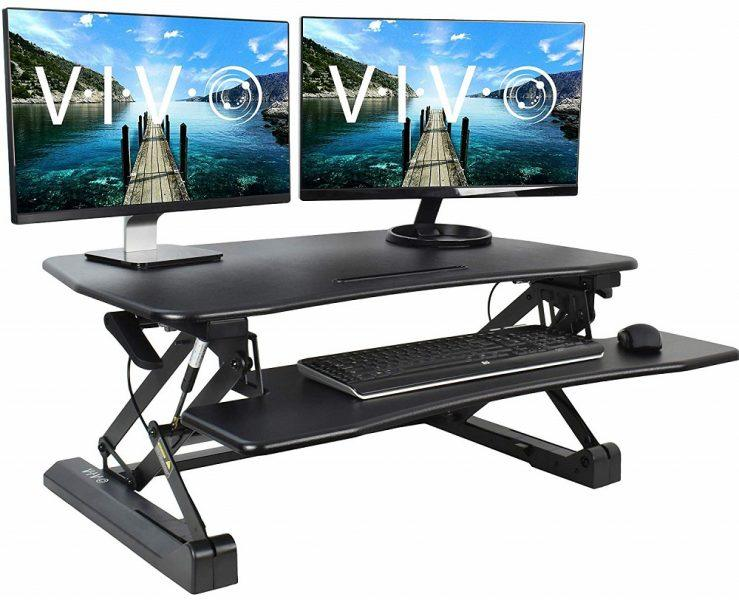 VIVO Black Height Adjustable 36 inch Stand up Desk Converter 2019 hottest holiday home gifts