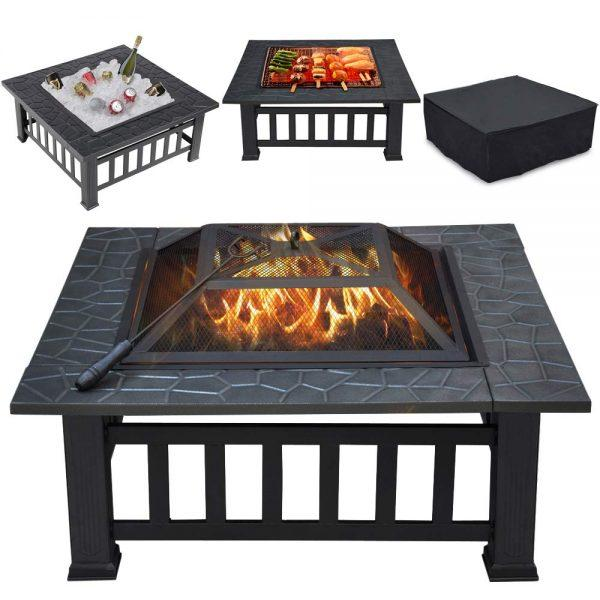 Yaheetech 32in Outdoor Metal Firepit 2019 hottest holiday outdoor home gift ideas