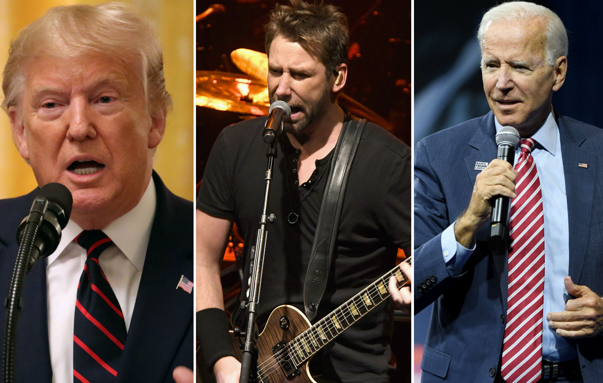 nickelback cuts off donald trump biden slap 2019