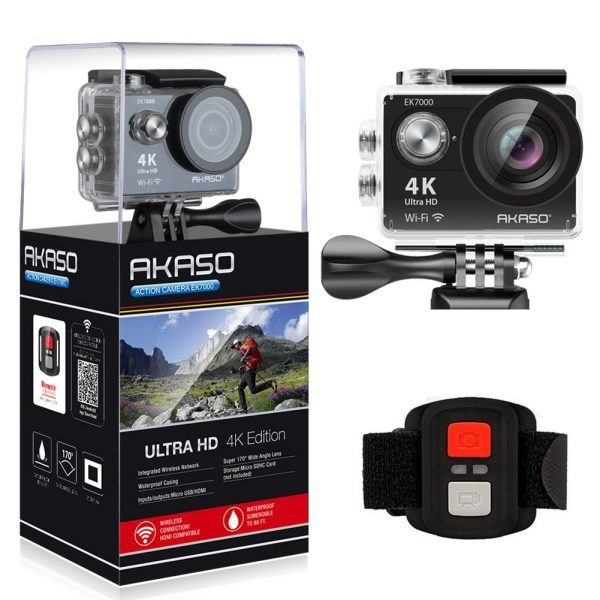 AKASO EK7000 4K WiFi Sports Action Camera 2019 hottest holiday gift photographers