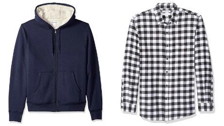 Amazon-brand clothing  fleece jacket plaid shirt hot holiday deals