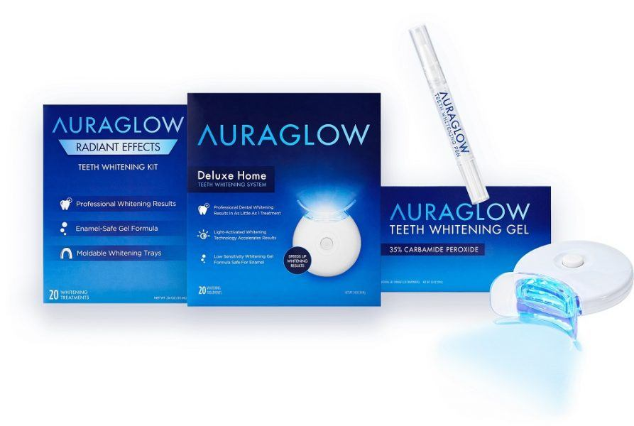 AuraGlow Teeth Whitening Kit 2019 hottest holiday beauty gift ideas