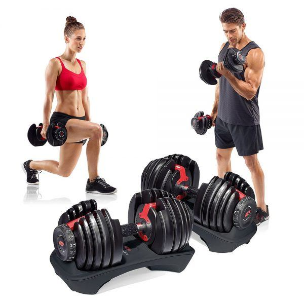 Bowflex SelectTech 552 Adjustable Dumbbells 2019 hottest holiday fitness gifts ideas