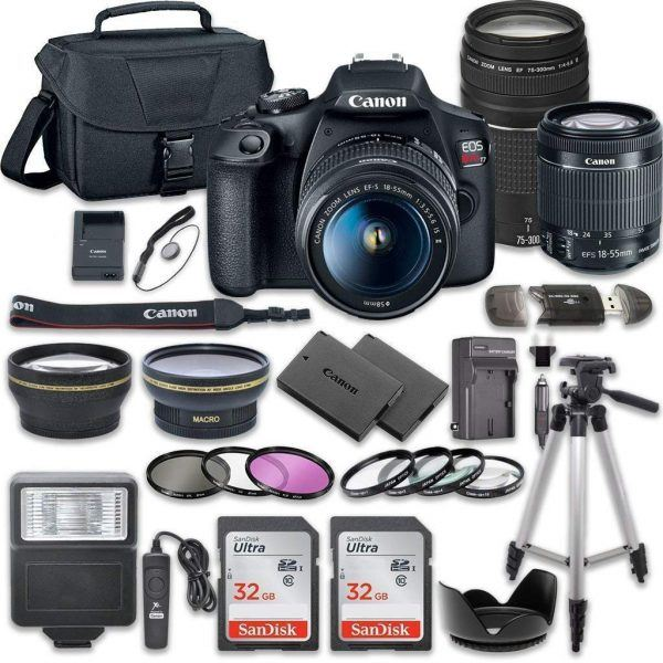 Canon EOS Rebel T7 DSLR Camera Bundle 2019 hottest holiday gifts ideas