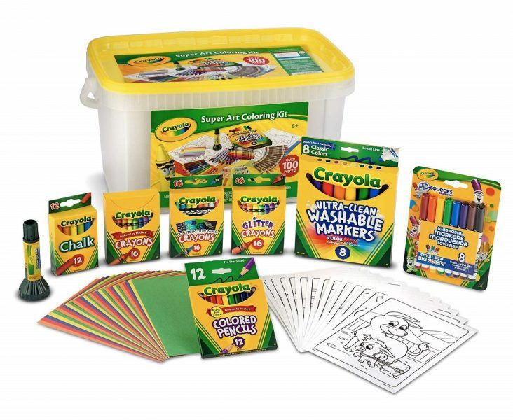 Crayola Super Art Coloring Kit 2019 hottest holiday kids toys crafts gift