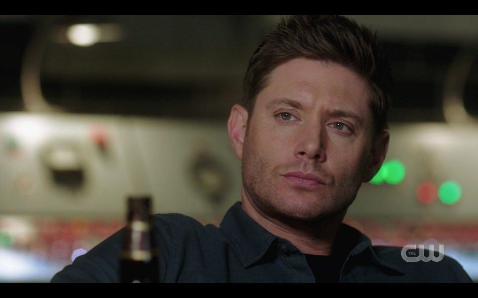 Dean Winchester looks up after Sam says he needs him SPN Golden Time