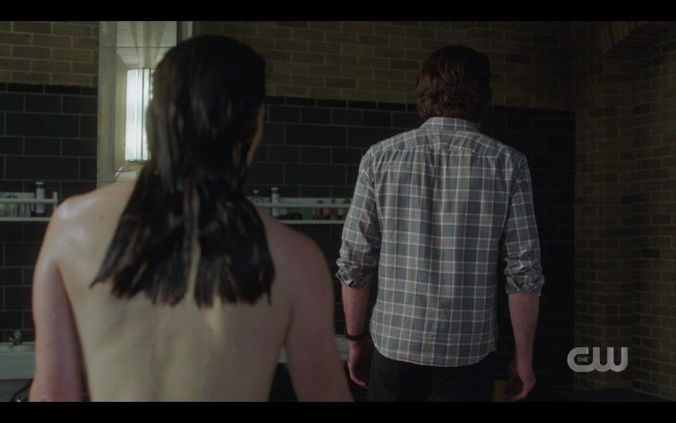Eileen watches Sam Winchester from behind Golden Time SPN