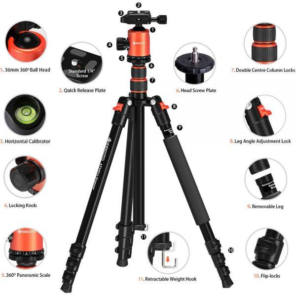 GEEKOTO 77'' Tripod 2019 hottest holiday camera gift ideas
