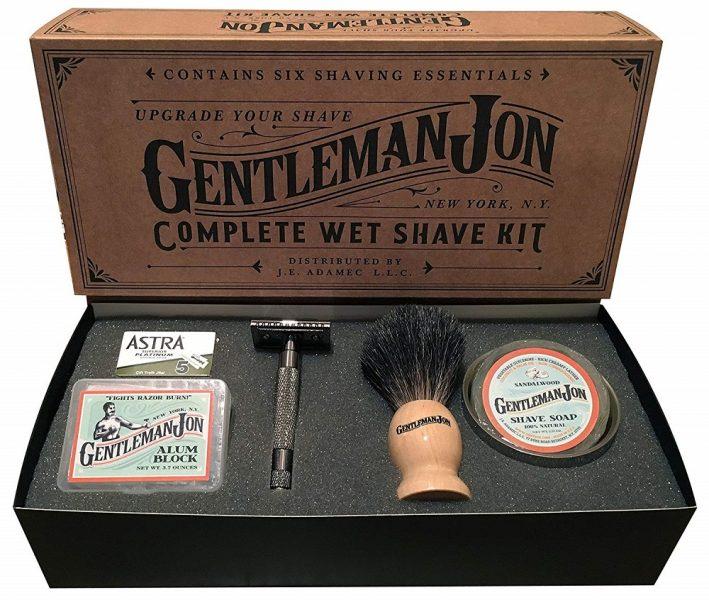 Gentleman Jon Deluxe Wet Shave Kit 2019 hottest holiday mens skincare shaving gift ideas